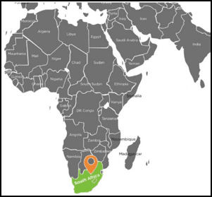 South Africa Map 2017